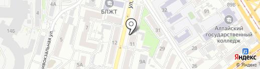 Just Smoke на карте Барнаула