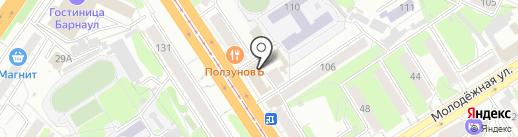 Алтай-Ангар на карте Барнаула