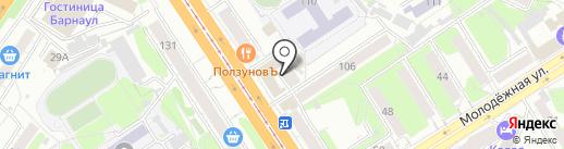 Алтай Герметик на карте Барнаула