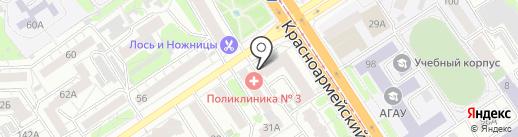 Ева 21 на карте Барнаула