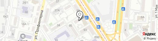 Шпилька на карте Барнаула