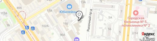 Донна Роза на карте Барнаула