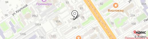 Феврония на карте Барнаула