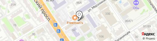 FUNBUS на карте Барнаула