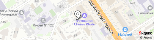 Аглая на карте Барнаула