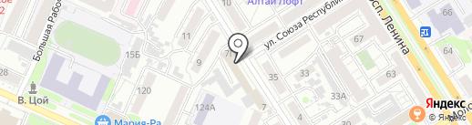 Sun Way на карте Барнаула