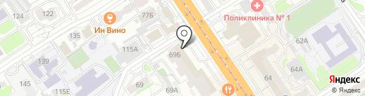 КроссПарк на карте Барнаула
