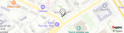 ЦветкоФФ на карте Барнаула