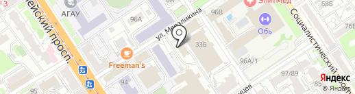 АлтайБизнесСтрой на карте Барнаула