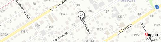 Депо на карте Барнаула