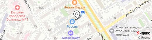 Florange на карте Барнаула