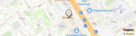 Байк-бар на карте Барнаула