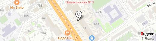 Формула М2 на карте Барнаула