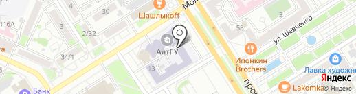 За науку на карте Барнаула