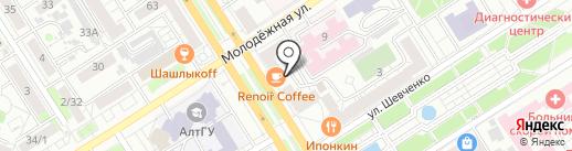 Студия печати на карте Барнаула