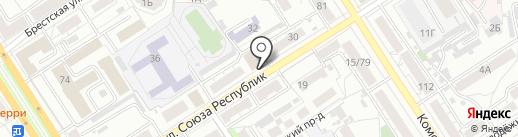 Инвестиционная-строительная компания Вектор на карте Барнаула