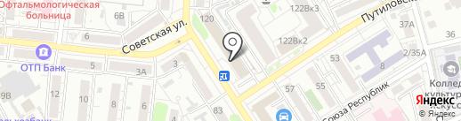 Российская газета на карте Барнаула