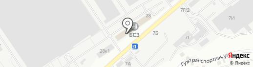 Касатка на карте Барнаула