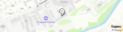 АВЕГА центр на карте Барнаула