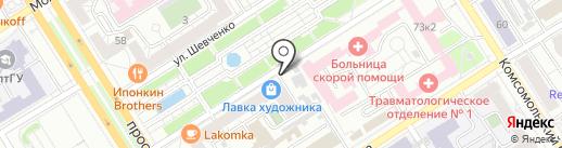 Каблучок на карте Барнаула