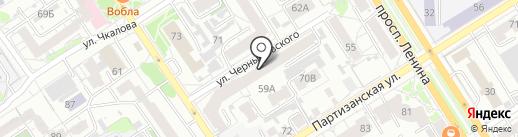 Лучезарное на карте Барнаула
