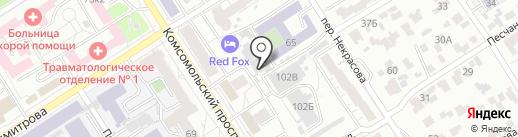 Магазин пенных напитков на карте Барнаула