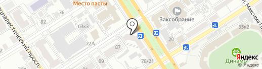 Алтайский институт труда и права на карте Барнаула