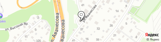 РАДИУС на карте Барнаула