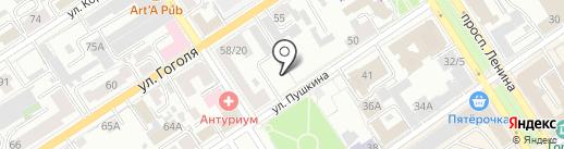 РОСТ на карте Барнаула
