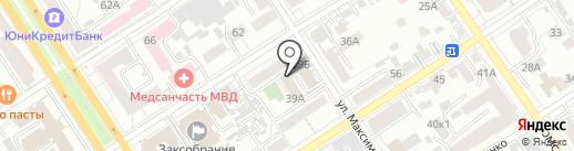 Алтай-фит на карте Барнаула