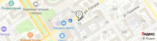 А страхование теперь здесь! на карте Барнаула