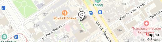 Мир кожи на карте Барнаула