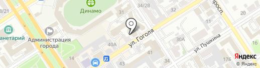 Студия красоты на карте Барнаула