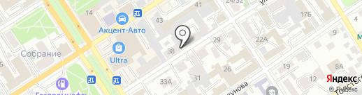 Юридическое бюро Болячевца и Смоликова на карте Барнаула