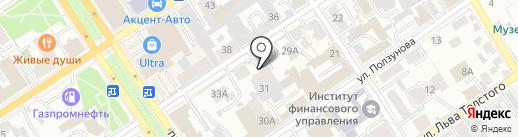 Очки Панкова на карте Барнаула