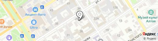 Аквалар-Сибирь на карте Барнаула
