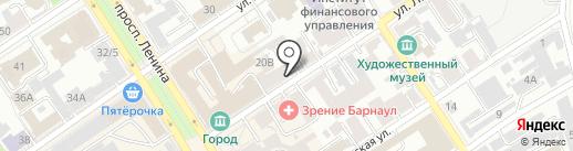 Ваш теплый дом на карте Барнаула