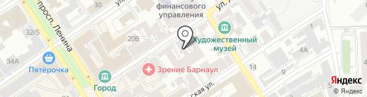 КРИСТАЛЛ ТОРГ на карте Барнаула
