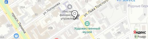 Азбука Упаковки на карте Барнаула