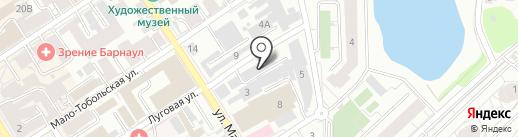 Офис Лайн на карте Барнаула