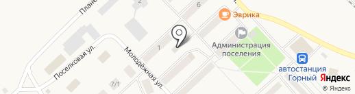 Петровский на карте Горного