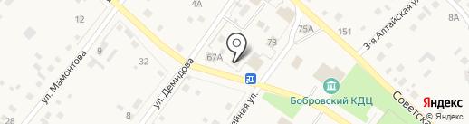 Березка на карте Бобровки