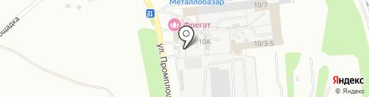 Угольная база №1 на карте Новоалтайска