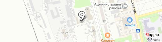 Автосервис на Строительной на карте Новоалтайска