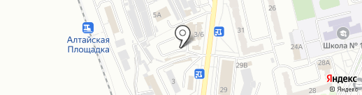 Автостоянка на карте Новоалтайска