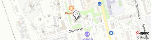 Кокетка на карте Новоалтайска