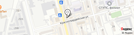 Орбита на карте Новоалтайска