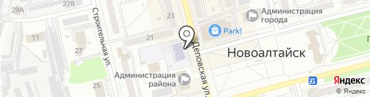 Гимназия №166 на карте Новоалтайска