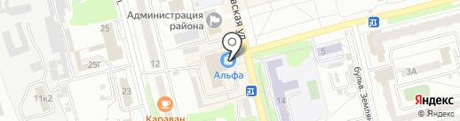 Крендель на карте Новоалтайска