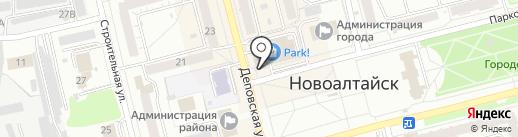 Модерн на карте Новоалтайска